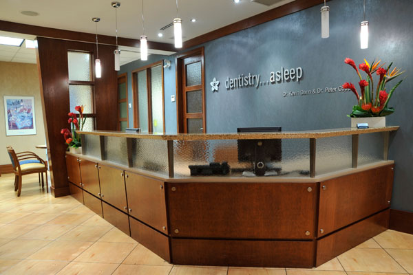 Dental Office front desk in Toronto