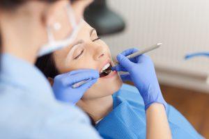 female dental patient asleep